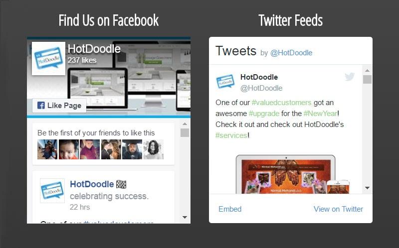 HotDoodle social media
